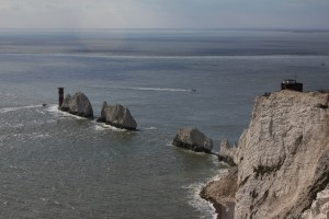 L'incredibile sito di The Needles alla punta Ovest dell'isola